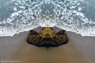 Rock Facing Water in Big Sur, CA